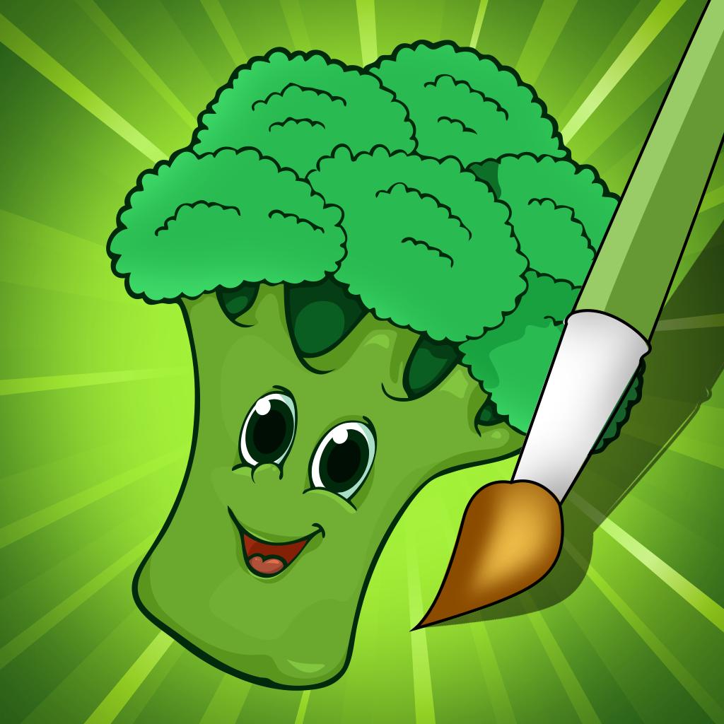 Activo! Libro para colorear de frutas y verduras para los niños ...